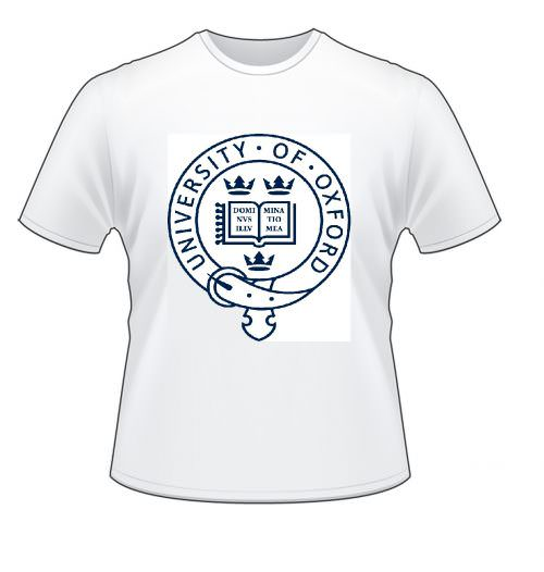 "Футболка ""Oxford university"" белая"