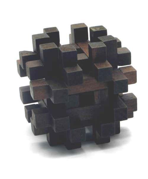 Головоломка деревянная Черный Ёж