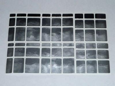 Наклейки на зеркальный кубик Рубика 3x3