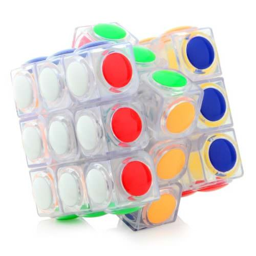 Кубик Рубика 3х3 YongJun Linggan Прозрачный