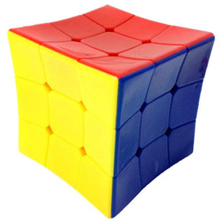 Кубик Рубика 3х3 цветной вогнутый HeShu