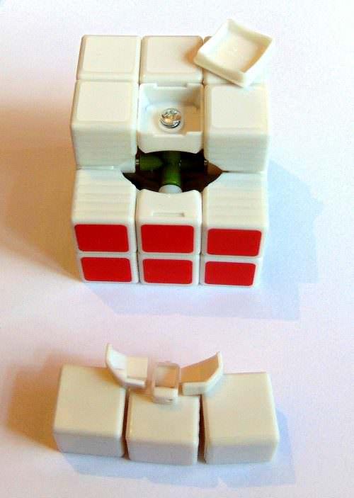 Кубик Рубика 3х3 белый Guo Jia, 57 мм