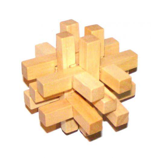 Деревянная головоломка 14 брусков