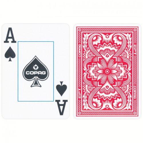 Покерные карты Copag EPT синие/красные, 100% пластик