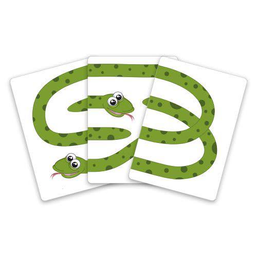 Три змеи - детский фокус с картами