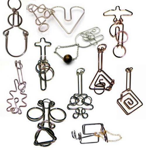 Коллекция из 18 металлических головоломок