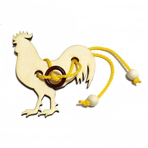 Головоломка веревочная Петушок
