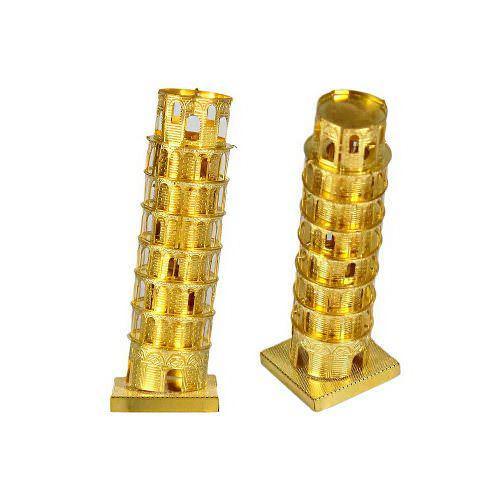 3D пазл металлический «Пизанская башня» (Золотая)