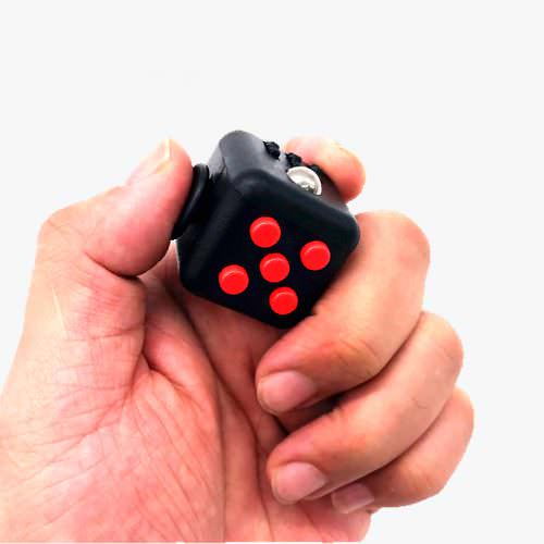 Антистрессовый кубик Fidget Cube (Чёрно-красный)