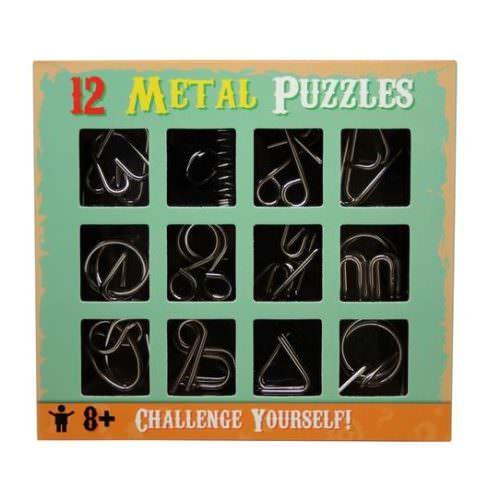 Набор из 12 металлических мини-головоломок