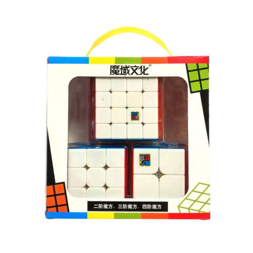 Набор цветных кубиков Рубика MoYu (2-3-4)