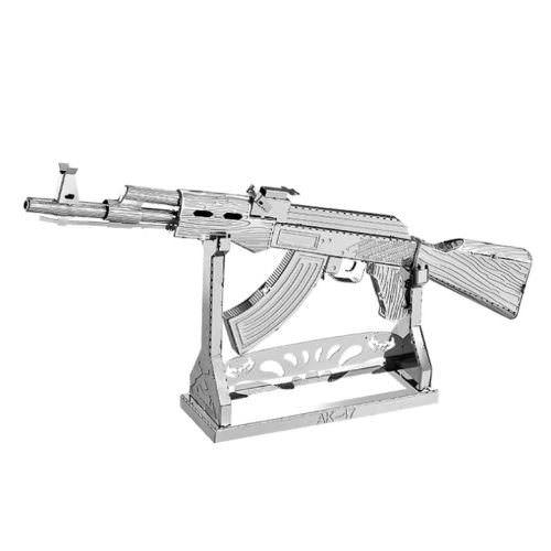 3D пазл металлический автомат АК-47