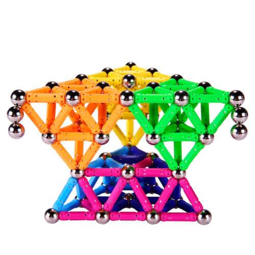 Магнитный конструктор Magnetics (136 деталей)