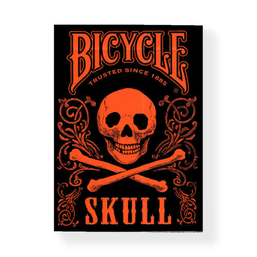 Покерные карты Bicycle Skull Orange
