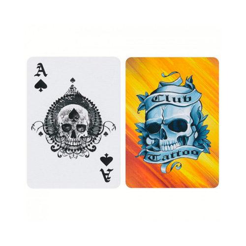 Покерные карты Bicycle Club Tattoo Жёлтые